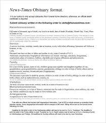 Newspaper Obituary Template 6 Newspaper Obituary Templates Pdf Word Free Premium Templates