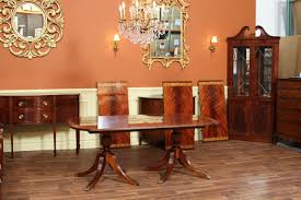 12 foot dining table on solid gany duncan phyfe pedestals