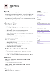 Resume For Servers Server Resume Templates 2019 Free Download Resume Io