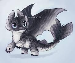 Light Fury And Toothless Baby Night Light Baby Dragon Of Toothless And Light Fury How