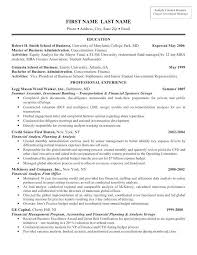 Template For Resume Investment Banking Resume Example Wall Street