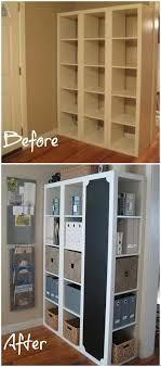 Easy DIY Command Center with Storage and Chalkboard