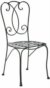 black wrought iron furniture. Patio Wrought Solid Iron Chair YC000816 Black Furniture D