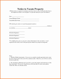 Notice To Vacate Property Template 24 sample letter notice to vacate rental property Notice Letter 1