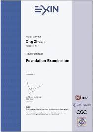 resume htm information technology infrastructure library itil v3 foundation certificate 2012