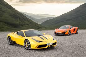 I modelli a 12 cilindri sono ferrari f12berlinetta e ferrari ff. Supercar Shootout Ferrari 458 Speciale Versus Mclaren 650s Autocar
