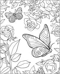 Nine free printable butterfly coloring pages that include five sets of small butterflies and four large butterflies. Get This Free Printable Butterfly Coloring Pages For Adults A512b