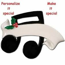 Details Zu Musical Music Notes Sign Choirmaster Choir Personalized Christmas Tree Ornament