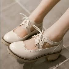 Yesstyle Shoe Size Chart Cutout Block Heel Brogues