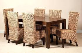 rattan dining room set. rattan dining room table and chairs neutral black white set c