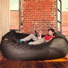 amazoncom jaxx  ft giant bean bag sofa black denim kitchen