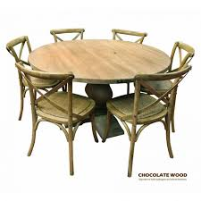 This round table set will create the perfect spot for family gatherings or entertaining. Utah Dia 135cm Mango Wood Round Dining Table 5 Natural Cross Back Dining Chairs