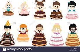 Big Cartoon Birthday Cake Child Drawing Stock Photos Big Cartoon