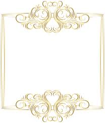 border frame ilrations and gold filigree clip art png