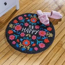be happy woven non slip rug