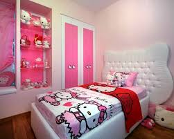 Simple Hello Kity Girls Bedroom Designs For Small Rooms ...
