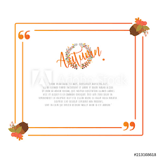 Bolo Template Quote Autumn Frame Design Elements Template Buy This Stock