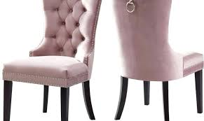pink velvet dining chairs meridian furniture modern plush pink velvet dining chairs set of 4 pink pink velvet dining chairs