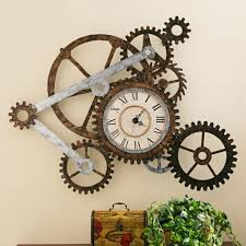 9. Decorate your walls with gear wall clocks