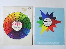 Grumbacher Color Compass And Harmony Wheel Mixing Chart