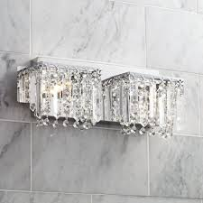 possini euro design hanging crystal 16 1 2 wide bath light vanity lighting fixtures com