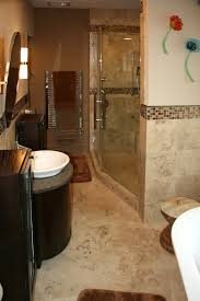 stone tile shower walls and floor