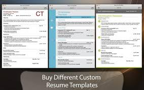 mac resume builder