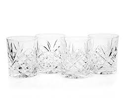 inger dublin crystal set of 12 double old fashioned glasses