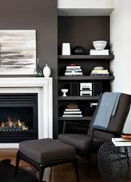 warm grey fireplace