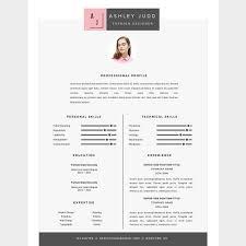 Fashion Designer Resume Template Cv By Resume21 On At Creativemarket