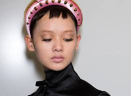 a backse beauty look from prada s spring 2019 show