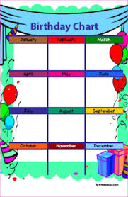 Free Printable Charts For Classroom Free Printable Birthday Charts For Classroom