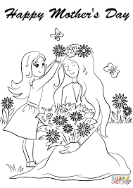 Small Picture Happy Mothers Day coloring page Free Printable Coloring Pages