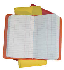 red yellow and orange sealed vinyl waterproof tally books