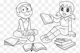 He has a blue skin, white stomach, white hands and a white magic pocket in front of his stomach. Shizuka Minamoto Coloring Book Doraemon Nobita Nobi Drawing Doraemon White Child Png Pngegg