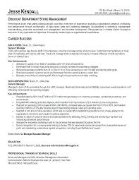 Department Store Manager Resumes Retail Store Manager Resume Example 3 Examples Clothing Sample