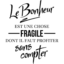 Sticker Citation Le Bonheur Est Une Chose Fragile Stickers
