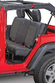 bartact mil spec super rear seat cover for 07 10 jeep wrangler jk 2 door quadratec