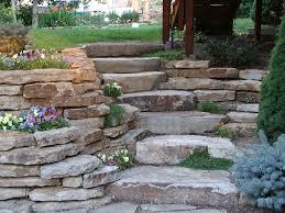 stone retaining wall stairs