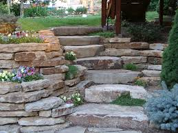 stone retaining wall stairs