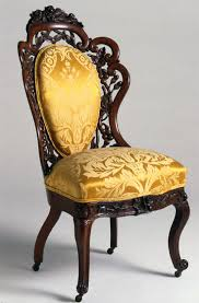 19th Century Victorian Carved Dark Walnut Lounge Chair