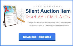 silent auction program template writing item descriptions for a silent auction is easier than you think