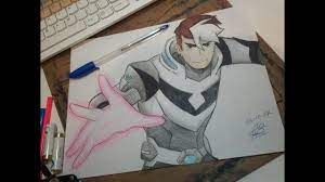How to make a cartoon! Voltron Legendary Defender Shiro Takashi Shirogane Speed Drawing Youtube