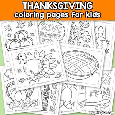 Printable coloring pages for kids. Thanksgiving Coloring Pages Itsybitsyfun Com