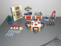 Grande Table Blanche Pour Cuisine Playmobil R239 Maison Moderne