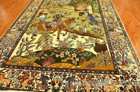 large chinese style rugs silk on pictorial rug village scene wall art traditional carpet oriental carpets