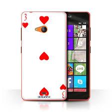 Stuff4 Case Cover For Microsoft Lumia 540 Colour 3 Of Hearts