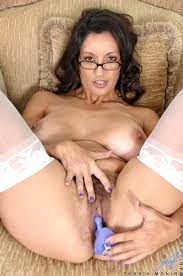 Mum in white stockings and white knickers