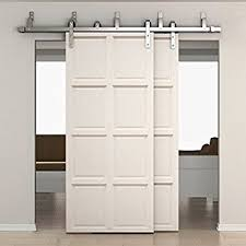 bypass barn door hardware. SMARTSTANDARD 6.6ft Bypass Double Door Sliding Barn Hardware (Stainless Steel) (J E