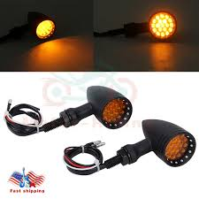 Details About Universal Motorcycle Led Amber Bullet Lamp Turn Signal Brake Light Indicator